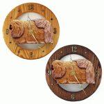 Pekingese Wood Wall Clock Plaque Sable