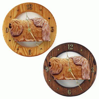 Pekingese Wood Wall Clock Plaque Sable 1