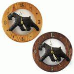Schnauzer Wood Wall Clock Plaque Blk Uncrop 1