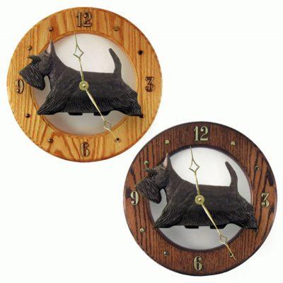 Scottish Terrier Wood Wall Clock Plaque Brindle 1