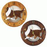 Sheltie Shetland Sheepdog Wood Clock Wall Plaque Sable