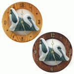 Shih Tzu Wood Wall Clock Plaque Silv/Wht 1