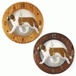 Saint Bernard Wood Wall Clock Plaque
