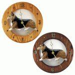 Welsh Corgi Pembroke Wood Wall Clock Plaque Sable 1