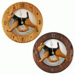 Welsh Terrier Wood Wall Clock Plaque