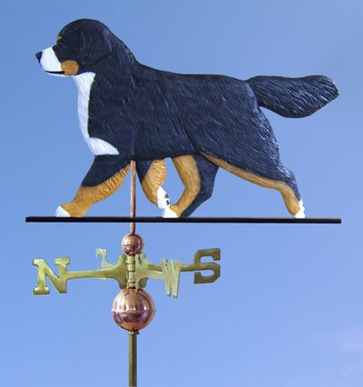 Bernese Mountain Dog Hand Carved Hand Painted Basswood Dog Weathervane 1