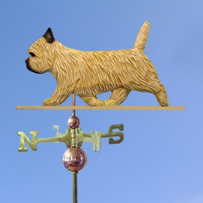 Cairn Terrier Hand Carved Hand Painted Basswood Dog Weathervane Wheaten 1
