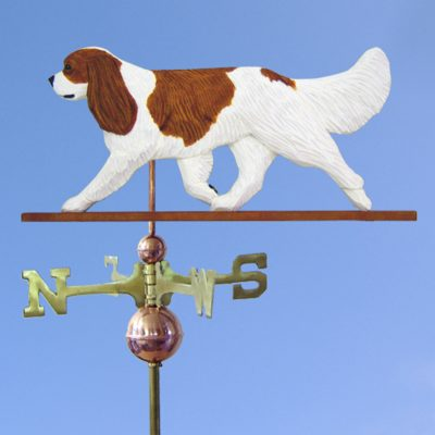 Cavalier King Charles Spaniel Hand Carved Hand Painted Basswood Dog Weathervane Blenheim 1