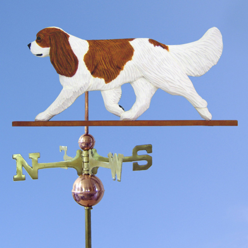 Cavalier King Charles Spaniel Hand Carved Hand Painted Basswood Dog Weathervane Blenheim