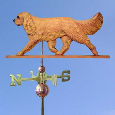 Cavalier King Charles Spaniel Hand Carved Hand Painted Basswood Dog Weathervane Ruby 1