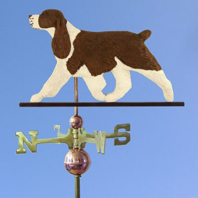 English Springer Spaniel Hand Carved Hand Painted Basswood Dog Weathervane Liver 1
