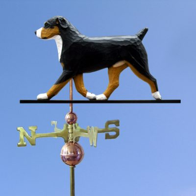 Entlebucher Hand Carved Hand Painted Basswood Dog Weathervane