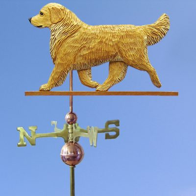 Golden Retriever Hand Carved Hand Painted Basswood Dog Weathervane Light 1