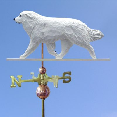 Great Pyrenees Hand Carved Hand Painted Basswood Dog Weathervane 1