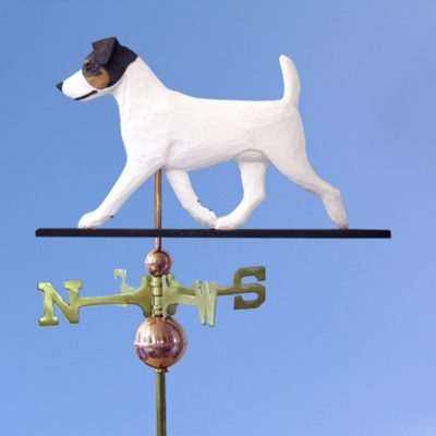 Jack Russell Terrier Hand Carved Hand Painted Basswood Dog Weathervane Tri 1