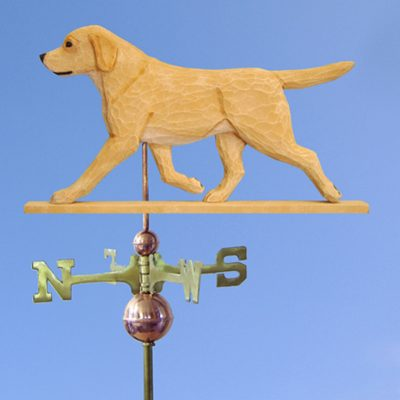 Yellow Labrador Retriever Hand Carved Hand Painted Basswood Dog Weathervane 1