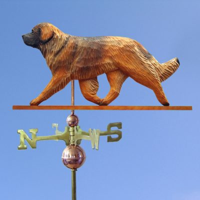 Leonberger Hand Carved Hand Painted Basswood Dog Weathervane 1