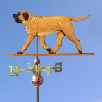 Mastiff Hand Carved Hand Painted Basswood Dog Weathervane Apricot 1