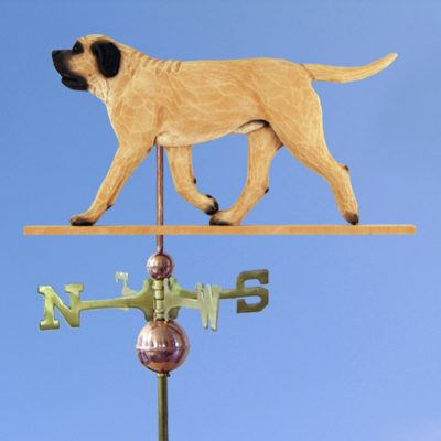 Mastiff Hand Carved Hand Painted Basswood Dog Weathervane Fawn 1
