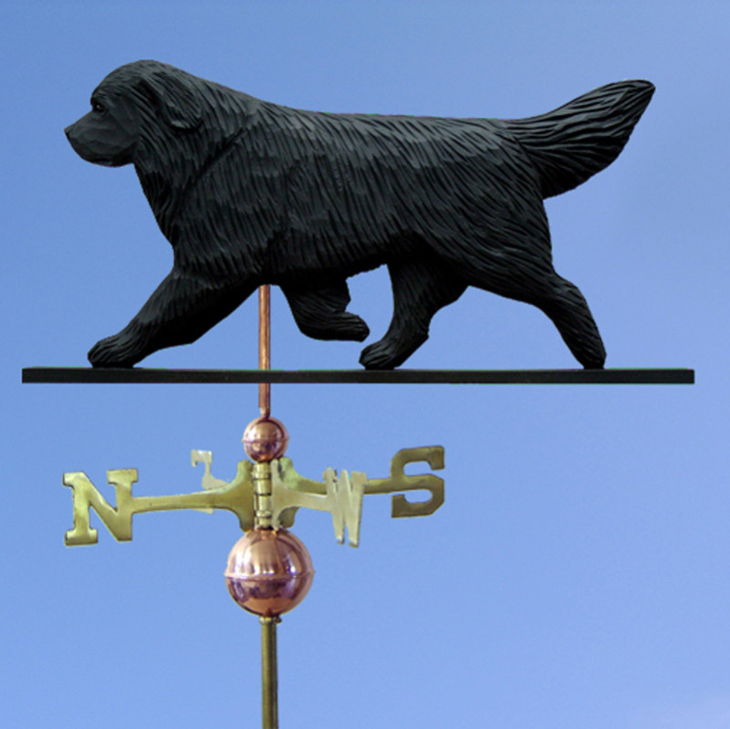 Newfoundland Hand Carved Hand Painted Basswood Dog Weathervane Black