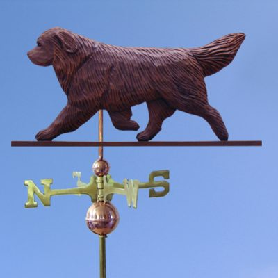 Newfoundland Hand Carved Hand Painted Basswood Dog Weathervane Brown