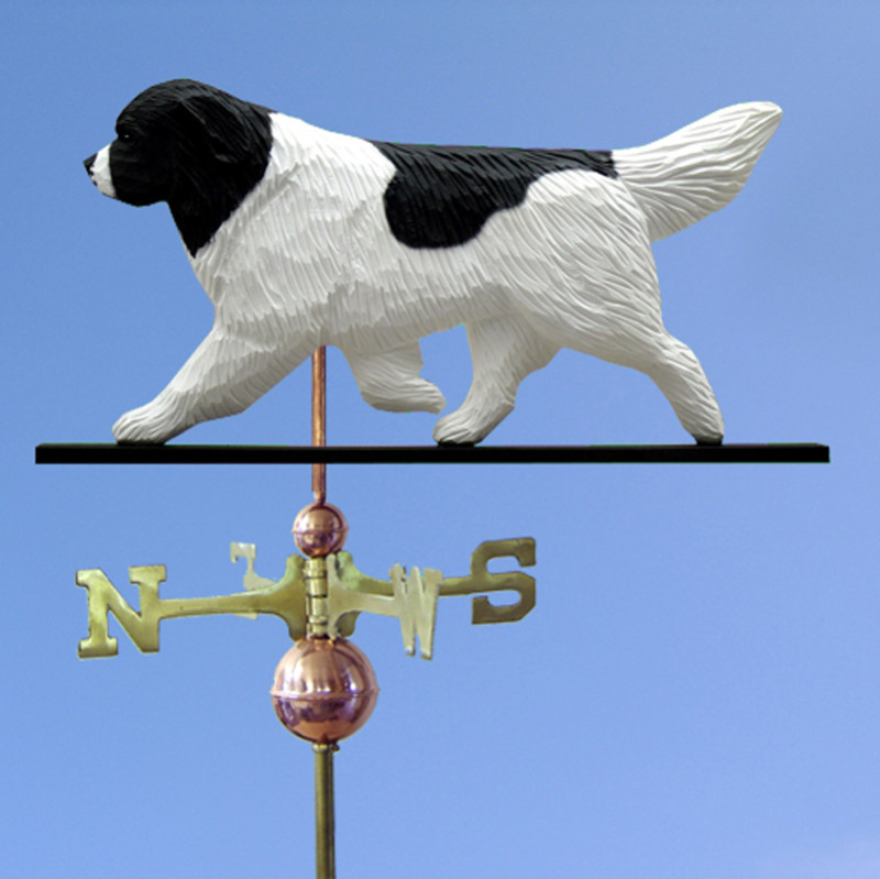 Newfoundland Hand Carved Hand Painted Basswood Dog Weathervane Landseer