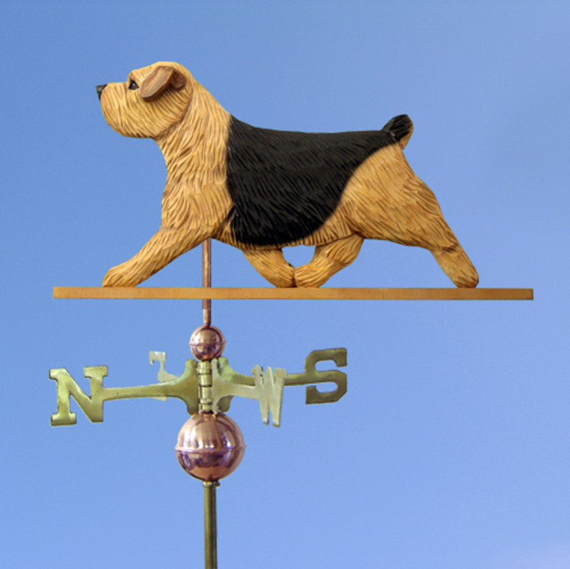 Norfolk Terrier Hand Carved Hand Painted Basswood Dog Weathervane Black &Tan