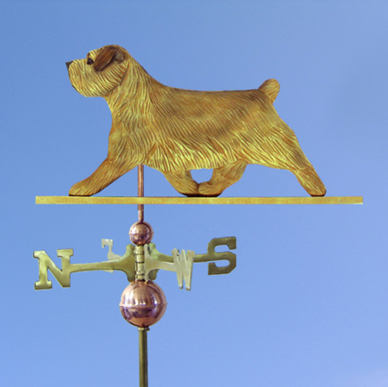 Norfolk Terrier Hand Carved Hand Painted Basswood Dog Weathervane Grizzle