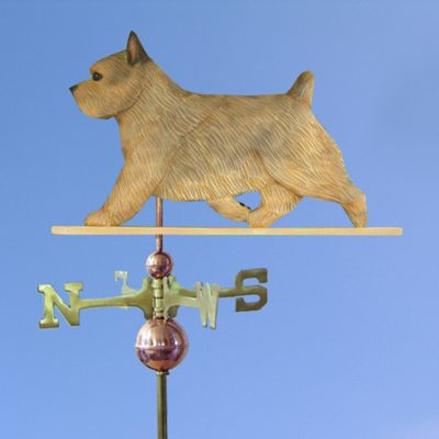 Norwich Terrier Hand Carved Hand Painted Basswood Dog Weathervane Grizzle 1