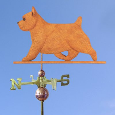 Norwich Terrier Hand Carved Hand Painted Basswood Dog Weathervane Red 1