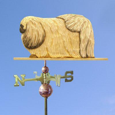 Pekingese Hand Carved Hand Painted Basswood Dog Weathervane Fawn 1