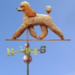 Poodle Hand Carved Hand Painted Basswood Dog Weathervane Apricot 1