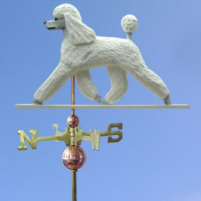 Poodle Hand Carved Hand Painted Basswood Dog Weathervane White 1