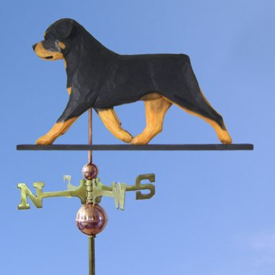 Rottweiler Hand Carved Hand Painted Basswood Dog Weathervane 1