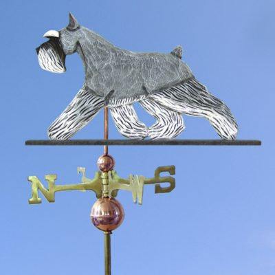 Schnauzer Miniature Hand Carved Hand Painted Basswood Dog Weathervane Salt/Pepper 1