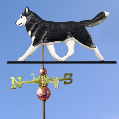 Siberian Black White Outdoor Dog Weathervane