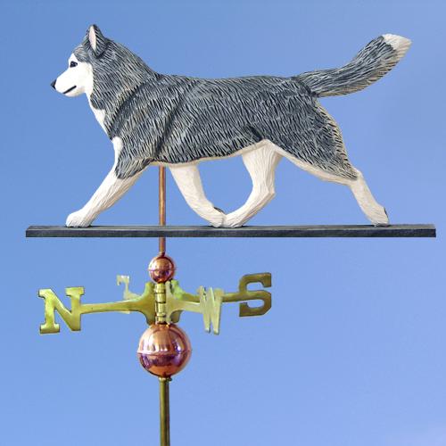 Siberian Husky Gray White Outdoor Dog Weathervane