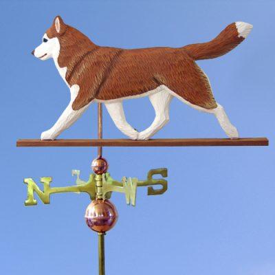 Siberian Husky Red White Outdoor Dog Weathervane