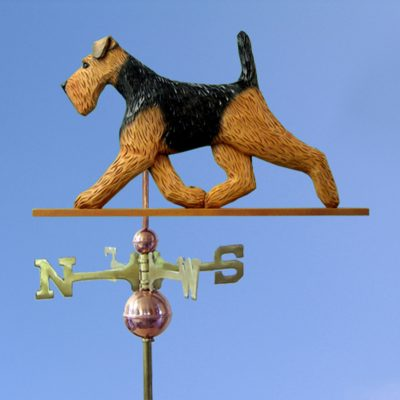 Welsh Terrier Hand Carved Hand Painted Basswood Dog Weathervane 1