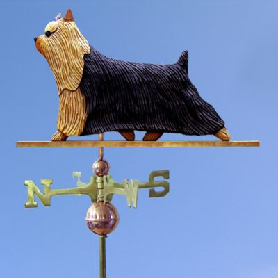 Yorkshire Terrier Hand Carved Hand Painted Basswood Dog Weathervane 1