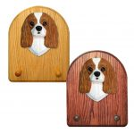 Cavalier King Charles Spaniel Dog Wooden Oak Key Leash Rack Hanger Blenheim