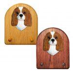 Cavalier King Charles Spaniel Dog Wooden Oak Key Leash Rack Hanger Blenheim 1