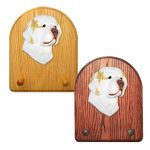 Clumber Spaniel Dog Wooden Oak Key Leash Rack Hanger Lemon