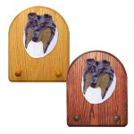 Collie Dog Wooden Oak Key Leash Rack Hanger Blue Merle