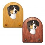 Entlebucher Dog Wooden Oak Key Leash Rack Hanger