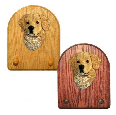 Golden Retriever Dog Wooden Oak Key Leash Rack Hanger Light 1