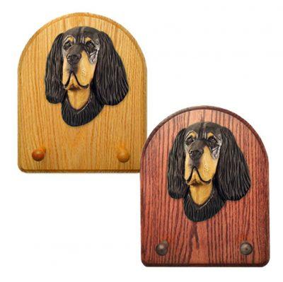 Gordon Setter Dog Wooden Oak Key Leash Rack Hanger 1