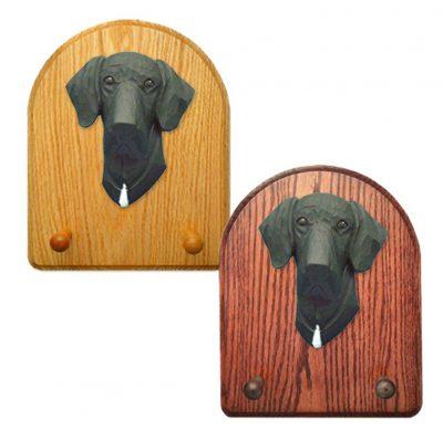 Great Dane Dog Wooden Oak Key Leash Rack Hanger Black Uncropped 1