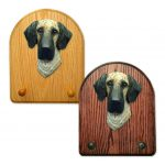 Great Dane Dog Wooden Oak Key Leash Rack Hanger Brindle Uncropped