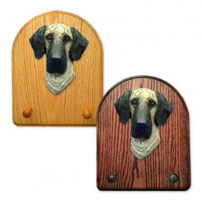 Great Dane Dog Wooden Oak Key Leash Rack Hanger Brindle Uncropped 1